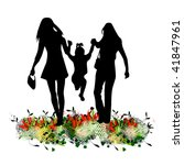 vector illustration of mother | Shutterstock .eps vector #41847961