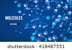 abstract molecules design. 3d... | Shutterstock .eps vector #418487551