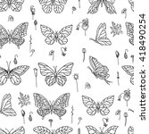 seamless pattern with... | Shutterstock .eps vector #418490254