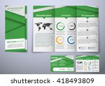 design triple folding brochure  ... | Shutterstock .eps vector #418493809