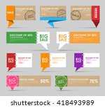 big set of web banners for sale ... | Shutterstock .eps vector #418493989