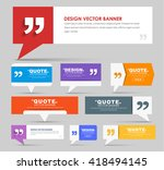 big set of web banners with... | Shutterstock .eps vector #418494145