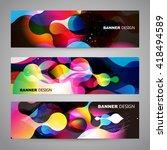 set of flyer  brochure design... | Shutterstock .eps vector #418494589