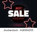 vector best sale vector... | Shutterstock .eps vector #418504255