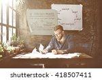 swot strengths weakness... | Shutterstock . vector #418507411