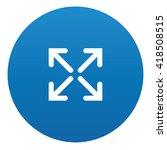 arrow icon design on blue...