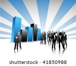 business people with graph | Shutterstock .eps vector #41850988