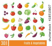 fruits and vegetables... | Shutterstock .eps vector #418510807