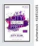 city night party template ... | Shutterstock .eps vector #418513351