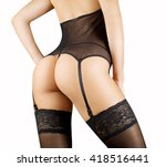 beautiful sexy lady in elegant... | Shutterstock . vector #418516441