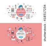 set of trendy vector... | Shutterstock .eps vector #418517254