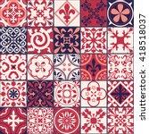 vector of moroccan tile... | Shutterstock .eps vector #418518037