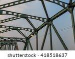 support above the bridge  steel ... | Shutterstock . vector #418518637