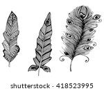 feathers of birds. charm.... | Shutterstock .eps vector #418523995
