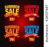 summer sale special offer... | Shutterstock . vector #418537687