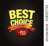 best choice offer template in... | Shutterstock . vector #418537741