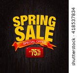 spring sale special offer... | Shutterstock . vector #418537834