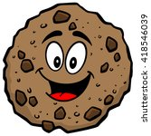 chocolate chip cookie mascot | Shutterstock .eps vector #418546039