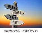 america  europe  africa  asia   ... | Shutterstock . vector #418549714