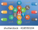 database network concept info... | Shutterstock .eps vector #418550104