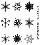 illustration of flakes | Shutterstock .eps vector #41855176