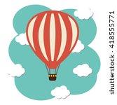 vector hot air ballon icon in... | Shutterstock .eps vector #418555771