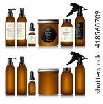realistic brown bottle for...   Shutterstock .eps vector #418560709