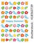 summer greeting card with... | Shutterstock .eps vector #418563739