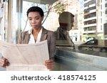 beautiful african american... | Shutterstock . vector #418574125
