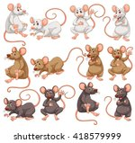 mouse with different fur color... | Shutterstock .eps vector #418579999
