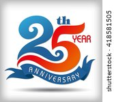 template logo 25th anniversary  ... | Shutterstock .eps vector #418581505