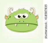 vector illustration of a monster | Shutterstock .eps vector #418587835