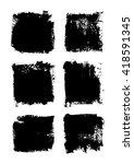 grunge frames set vector  | Shutterstock .eps vector #418591345