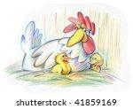 mother hen | Shutterstock . vector #41859169