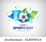 vector logo football ... | Shutterstock .eps vector #418594414