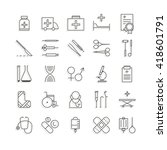 medical icons | Shutterstock .eps vector #418601791