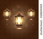 lantern vector illustration.... | Shutterstock .eps vector #418604434