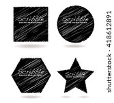 collection of black scribble... | Shutterstock .eps vector #418612891