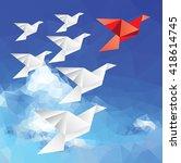 vector illustration with... | Shutterstock .eps vector #418614745