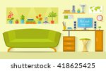 the interior design of the room ... | Shutterstock .eps vector #418625425
