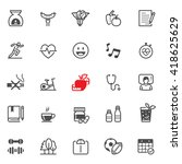 health icons with white... | Shutterstock .eps vector #418625629