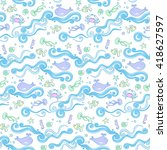 seamless abstract pattern with... | Shutterstock .eps vector #418627597