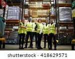 group portrait of staff at... | Shutterstock . vector #418629571