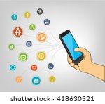 smart phone smart life... | Shutterstock .eps vector #418630321