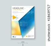 cover design for annual report... | Shutterstock .eps vector #418639717