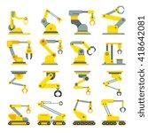robotic arm  hand  industrial... | Shutterstock .eps vector #418642081
