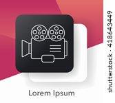 video camera line icon | Shutterstock .eps vector #418643449