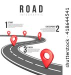 road infographic vector... | Shutterstock .eps vector #418644541
