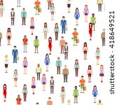 people seamless pattern with... | Shutterstock .eps vector #418649521