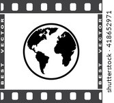 earth sign icon  vector...   Shutterstock .eps vector #418652971